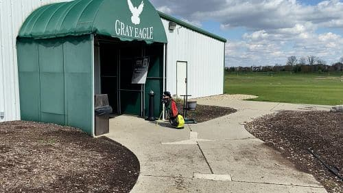This is a picture of the entrance of Gray Eagle Golf Course
