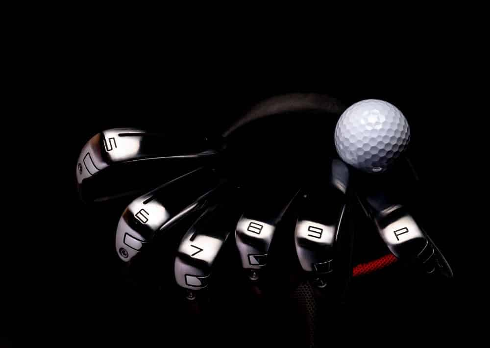 Dark Image Of Golf Irons